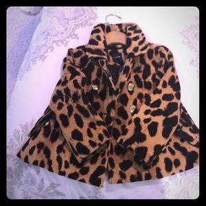 Euc leopard coat